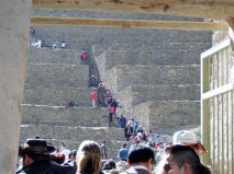 There is quite a climb up the terraces once you get inside.