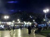 Plaza de Armas at night.