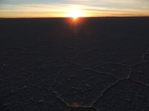 Sunrise at Uyuni Salt Flats