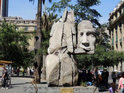 Sculpture in Plaza de Armas