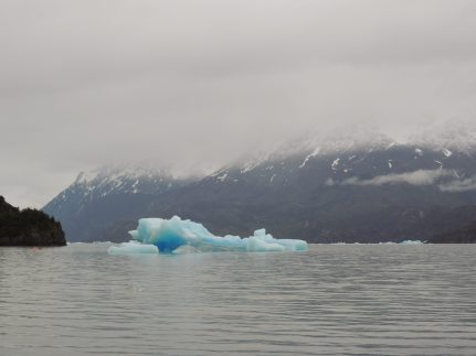 Grey Lake, blue ice. Cool.