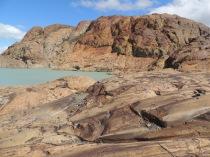 Worn rock which was previously beneath the glacier.