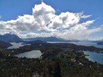 View of lakes and stunning cloud form.